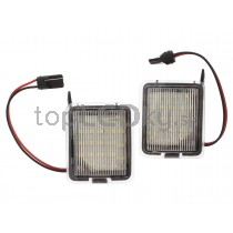 LED svetlo, podsvietenie spätného zrkadla, ľavé a pravé, Ford Focus Mk3