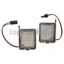LED svetlo, podsvietenie spätného zrkadla, ľavé a pravé, Ford Kuga