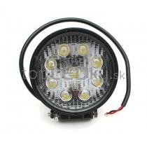 LED Pracovné svetlo 27W, okrúhle