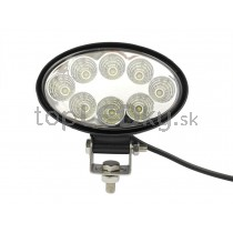 LED Pracovné svetlo 24W, elipsa